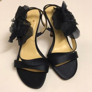 Kate Spade New York Navy Blue Satin Sandals. Sz-7.